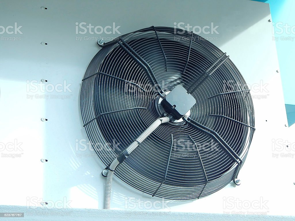 External air-conditioning unit stock photo