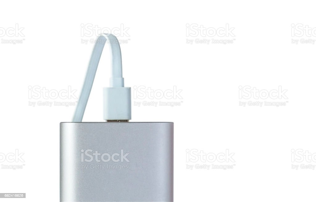 External battery for mobile devices isolated on a white background royalty-free stock photo