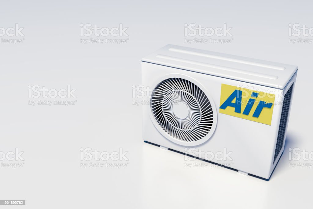 external convection air conditioning units 3d royalty-free stock photo