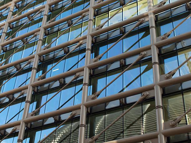 External facade detail stock photo