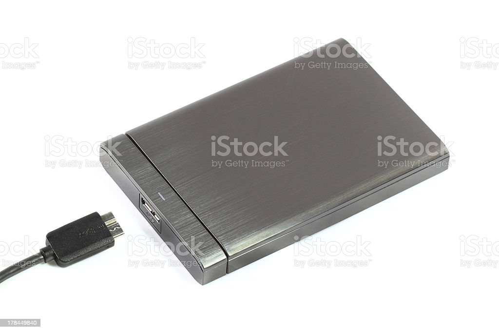 External hard disk royalty-free stock photo