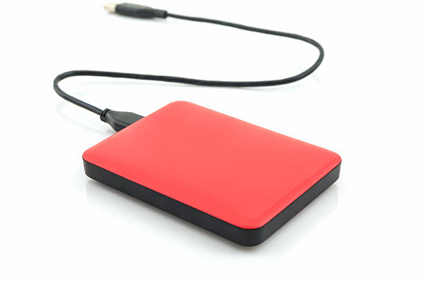 External hard drive for backup. External hard drive for backup on white background. external hard disk drive stock pictures, royalty-free photos & images