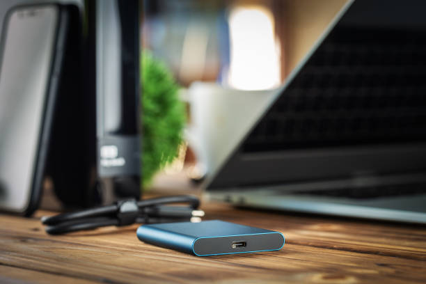 external hard drive new technology fast and small external hard drive new technology fast and small external hard disk drive stock pictures, royalty-free photos & images