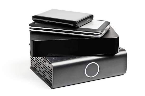 external hard drives - external hard disk drive stock photos and pictures