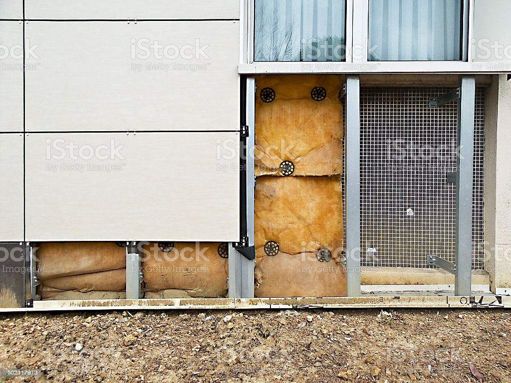 External insulation of a building stock photo