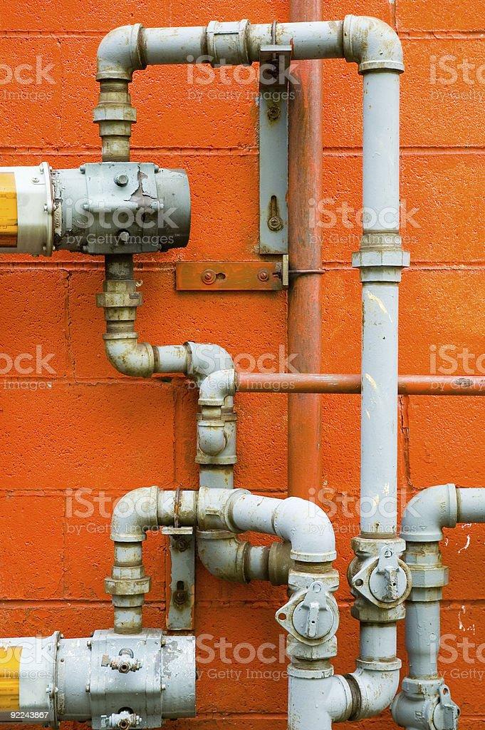 External Plumbing royalty-free stock photo