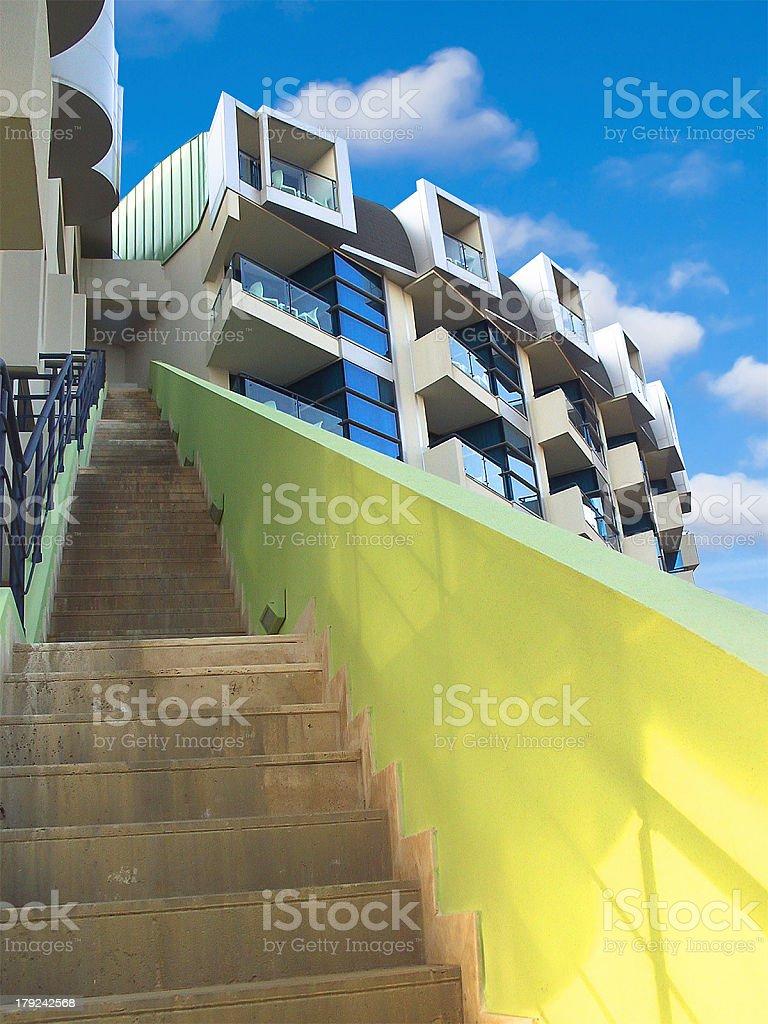 External staircase modern building. stock photo
