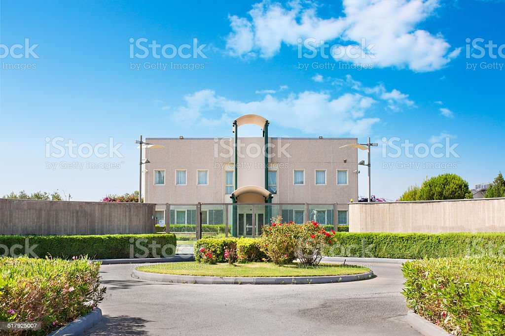External structure research center stock photo