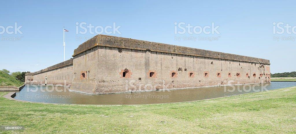 External view of Fort Pulaski, Georgia stock photo