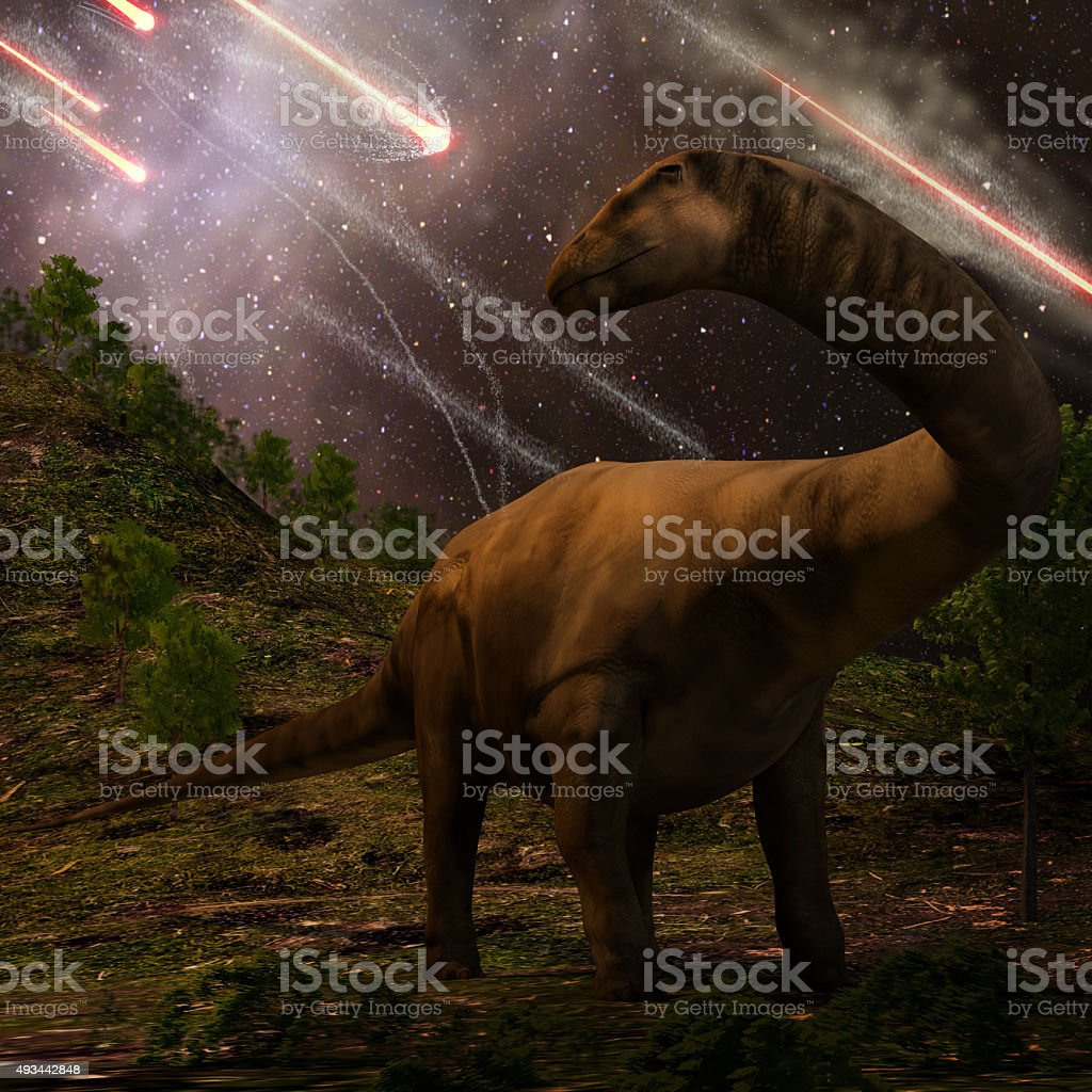 Extinction Of The Dinosaurs stock photo