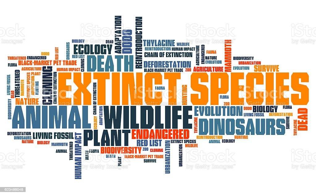 Extinction stock photo