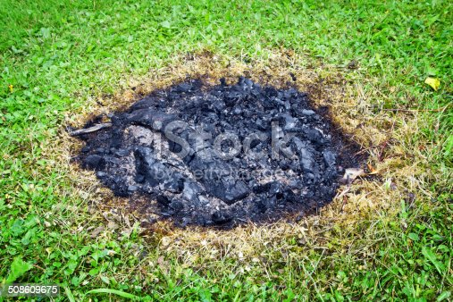 istock Extinguished bonfire 508609675