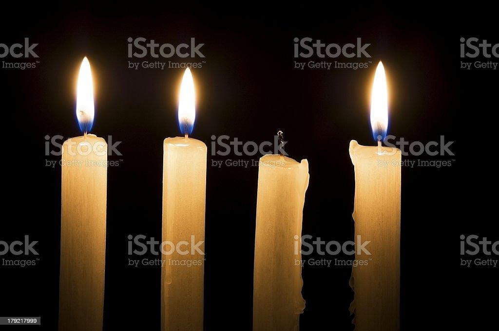 Extinguished candle stock photo