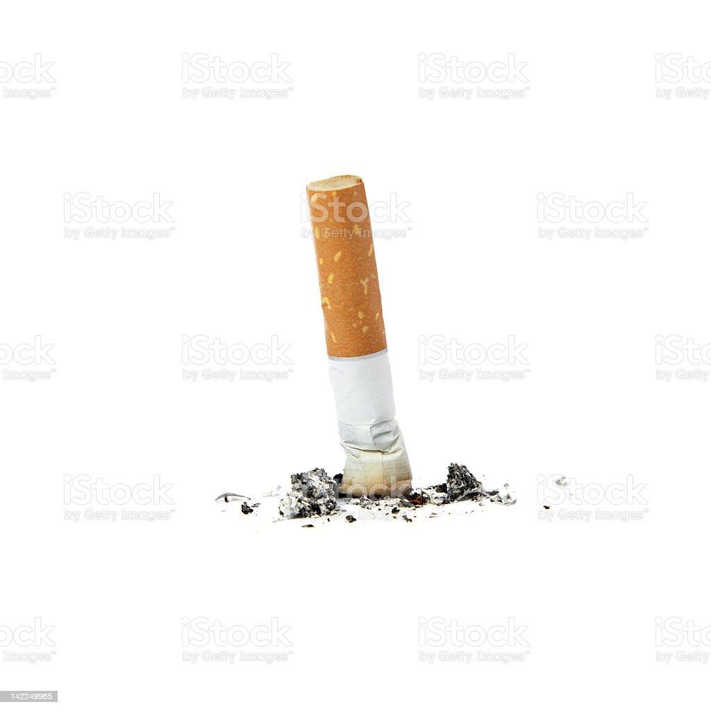 Extinguished cigarette. stock photo