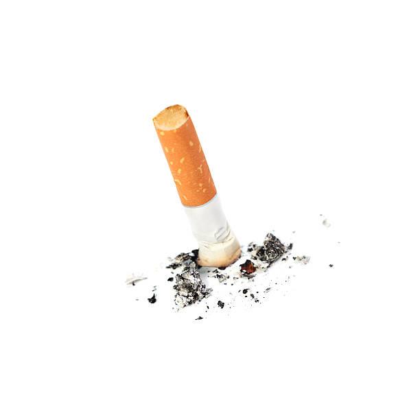 Extinguished cigarette stock photo