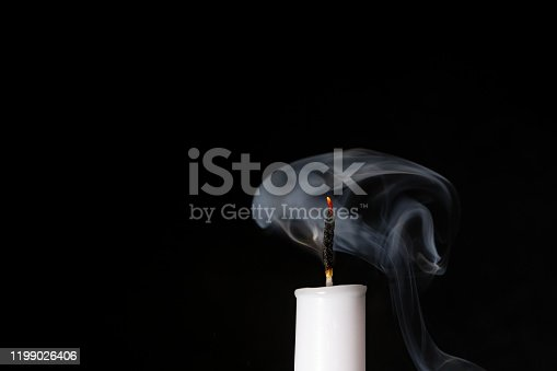 Blown out Candle with Smoke