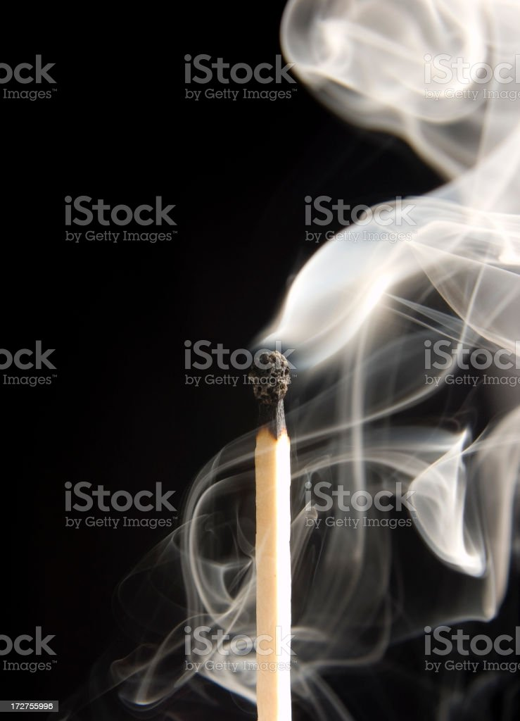 Extinguished Matchstick stock photo