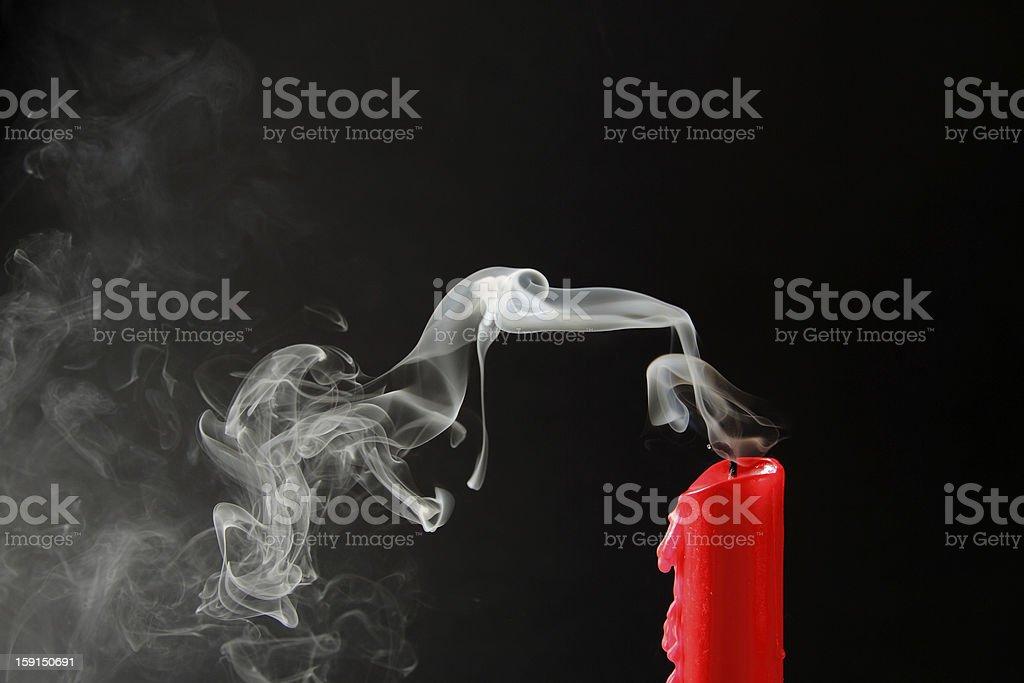 Extinguished stock photo