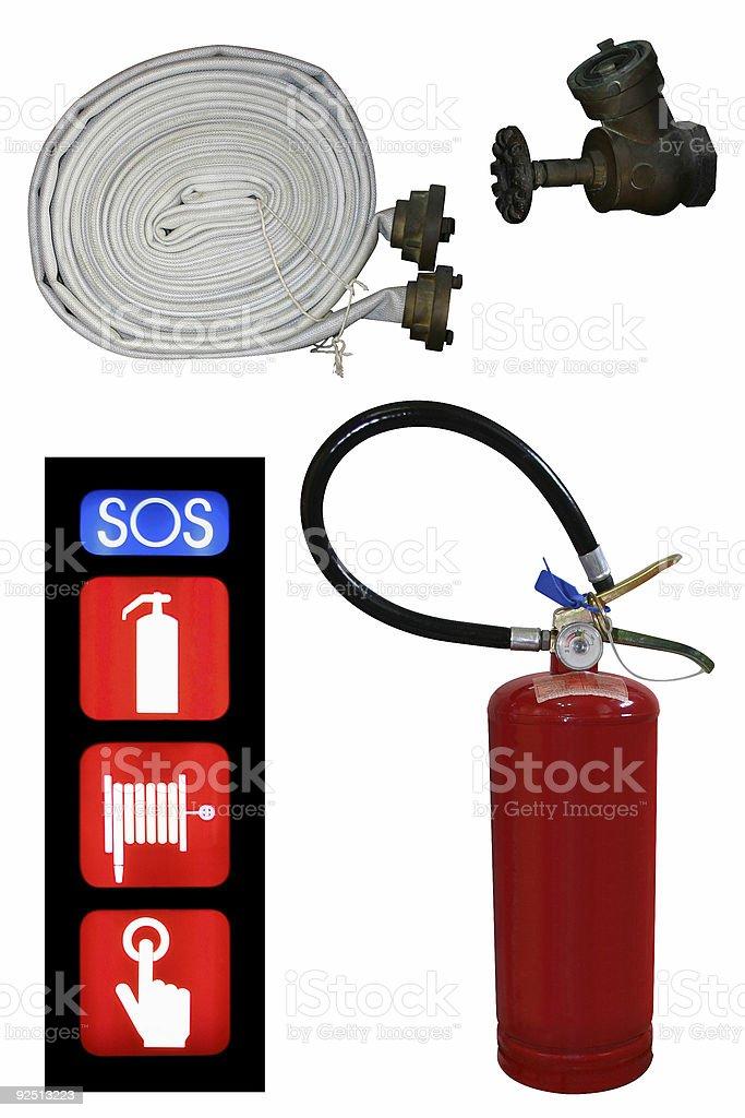 Juego de extintor - foto de stock