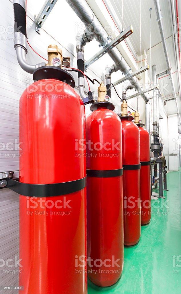Extinguishers stock photo