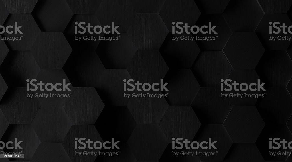 Extra Dark Hexagonal Tile Background (Lights Off) stock photo