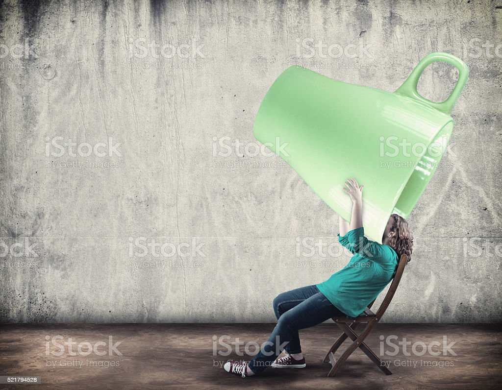 Extra large cup stock photo