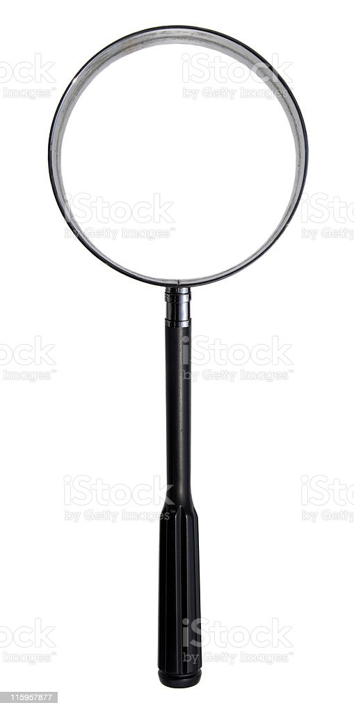 Extra Large Magnifying Glass with inner & outer clipping paths royalty-free stock photo