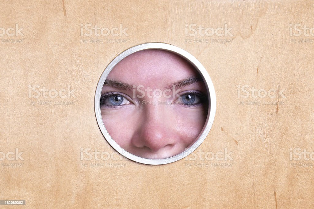 Extra Large Peephole royalty-free stock photo