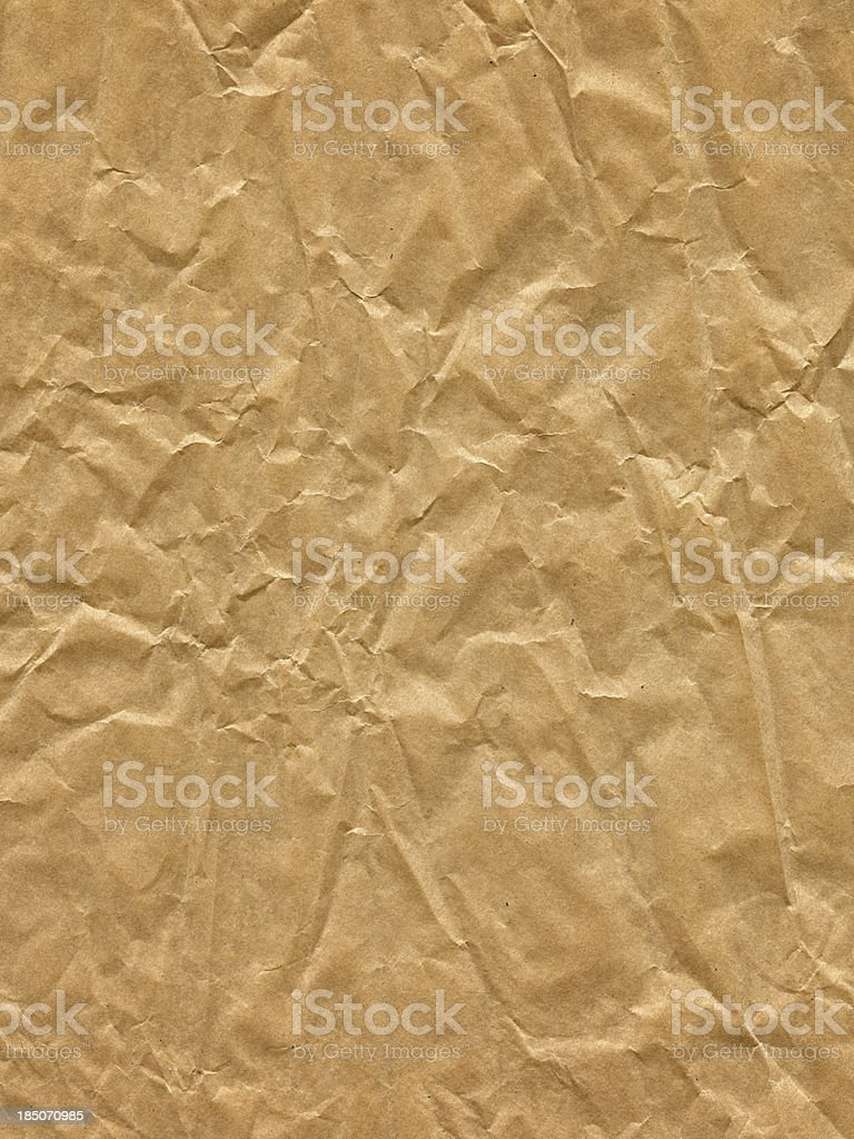 Extra Large Wrinkled Old Paper royalty-free stock photo