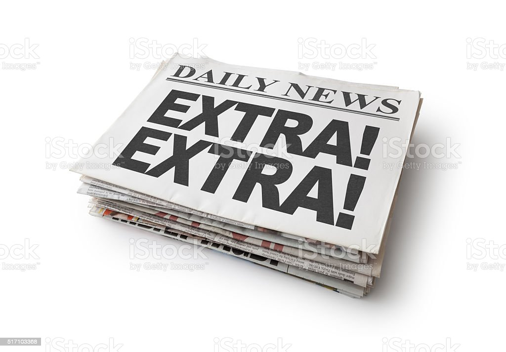 Extra News stock photo