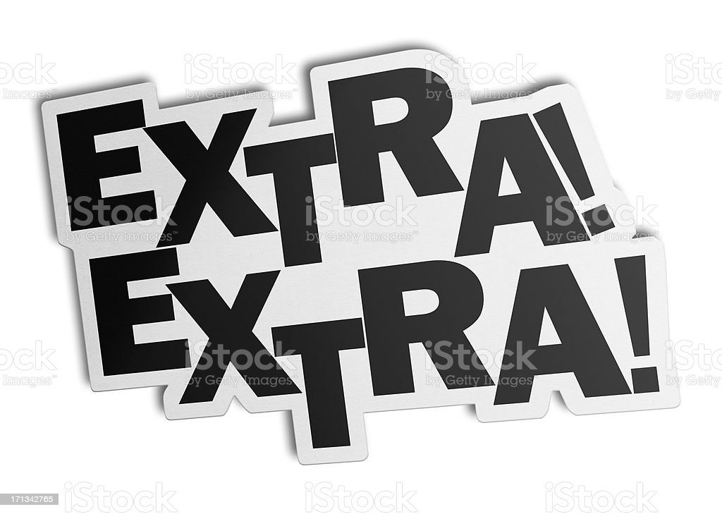 Extra, Speech Bubble (Clipping Path) royalty-free stock photo