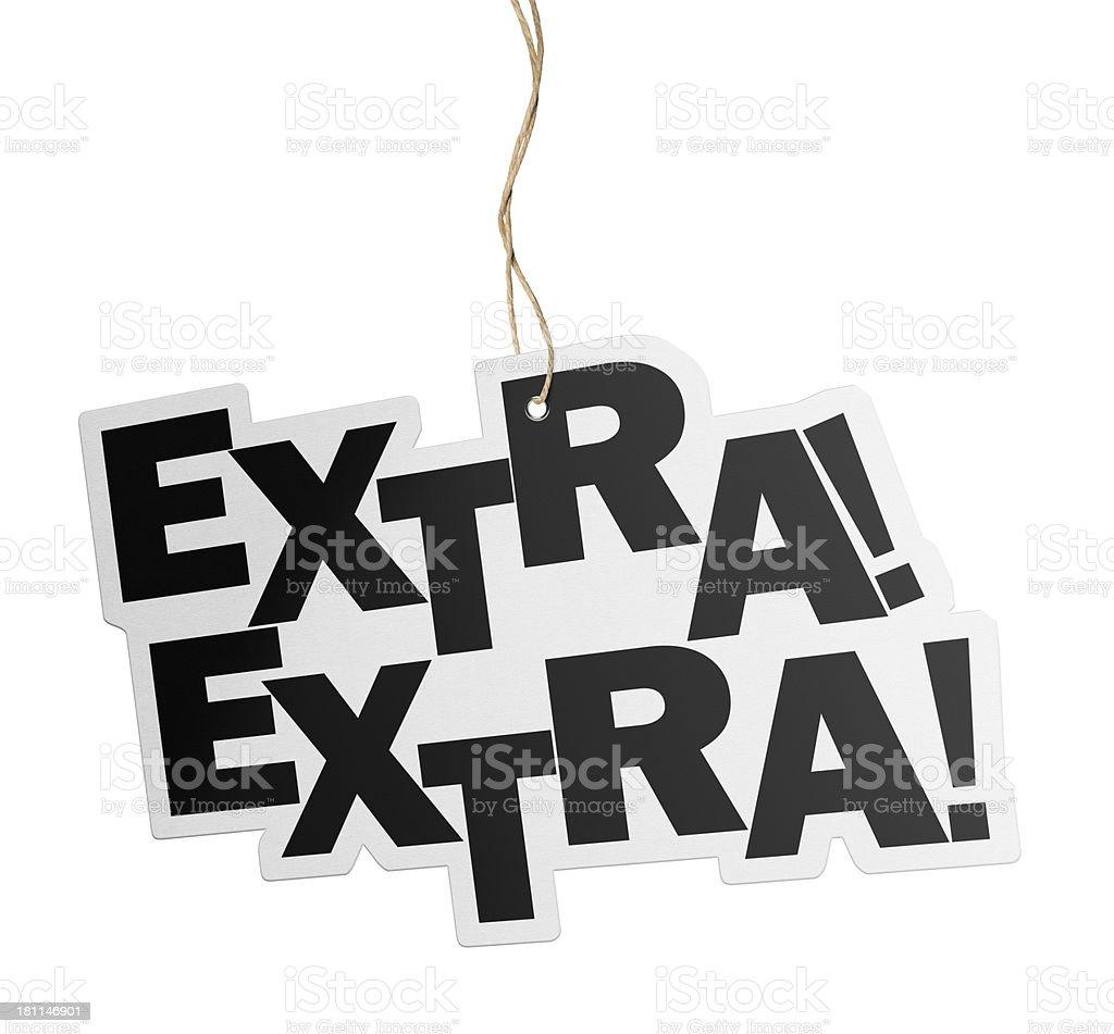 Extra, Speech Bubble royalty-free stock photo