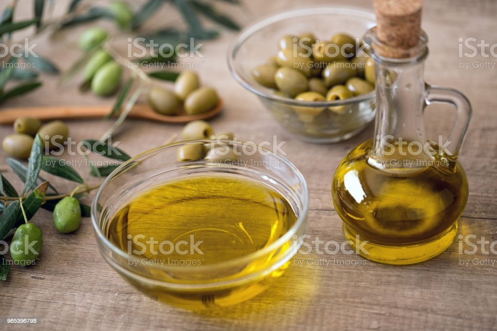 Extra virgin healthy Olive oil royalty-free stock photo