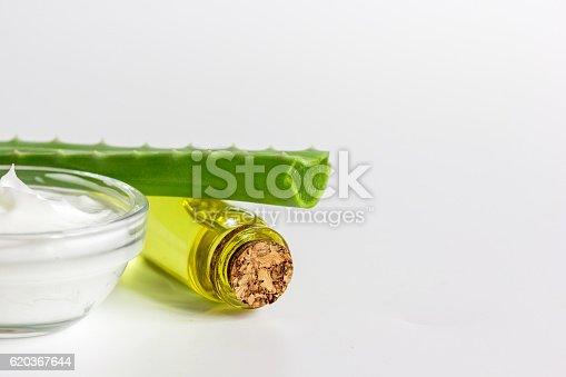 Extract From Aloe Vera In Glass Bottle And Cream Macro - Stockowe zdjęcia i więcej obrazów Aloes