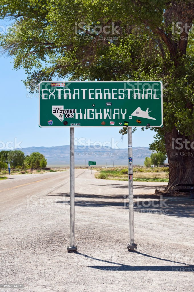 Extraterrestrial Highway, Nevada, Road Trip stock photo