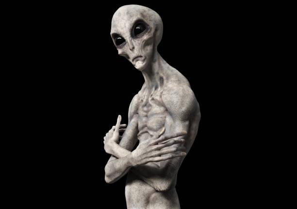 buitenaards leven of vreemdeling - buitenaards wezen stockfoto's en -beelden