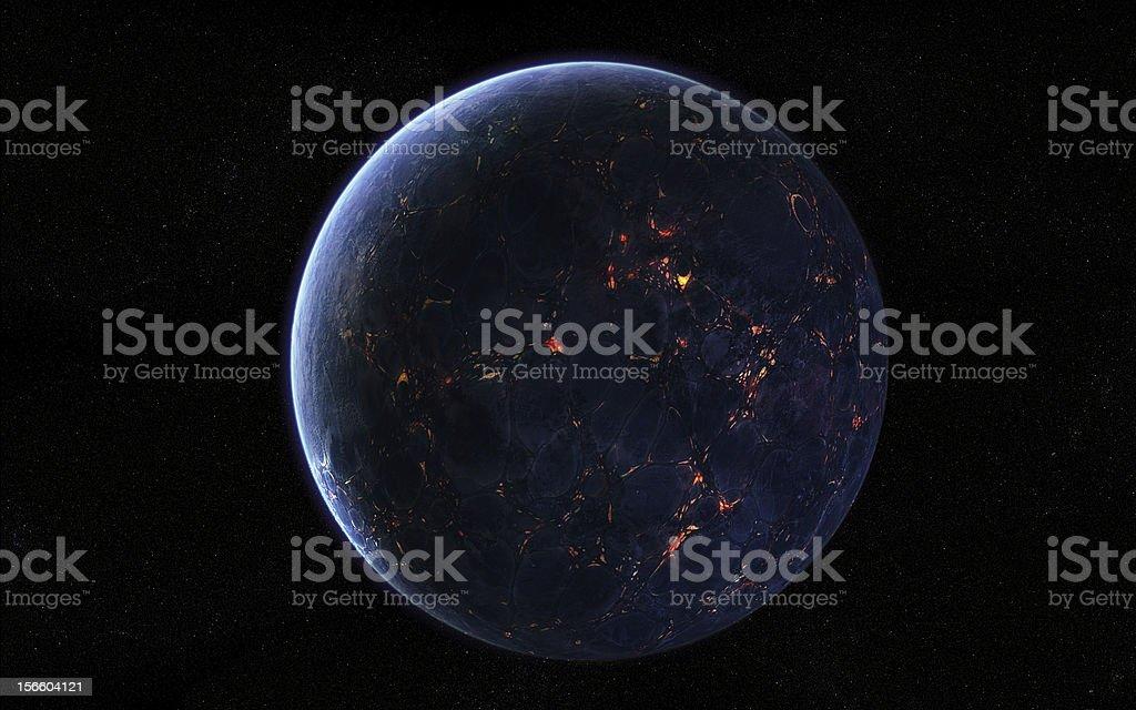 Extraterrestrial Planet stock photo