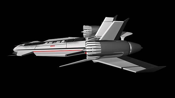 Extraterrestrial Raumschiff Seitenansicht – Foto