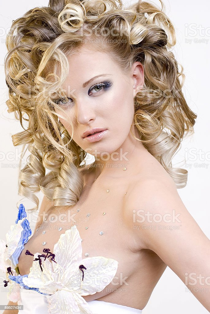 extravagant bride royalty-free stock photo