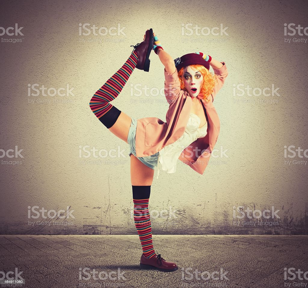 Extravagant clown stock photo