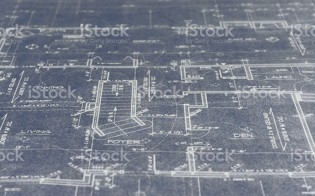 Extreamely Old Blueprint stock photo