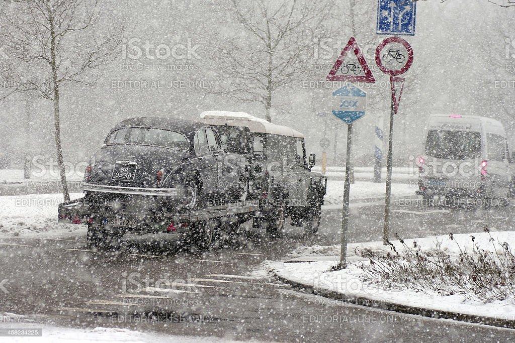 Extreem snowfall royalty-free stock photo