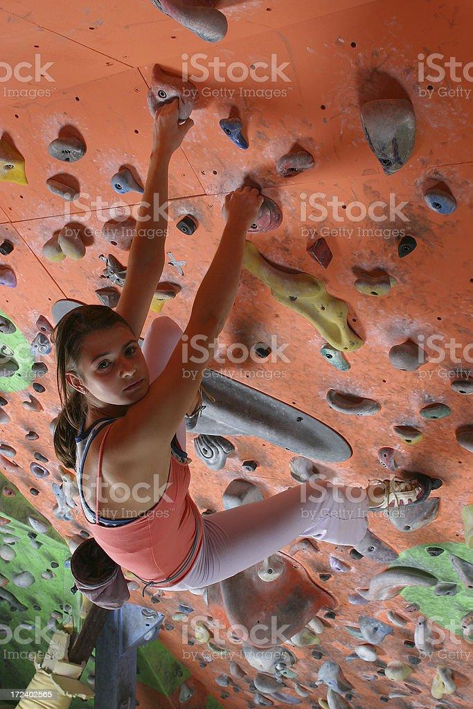 Extreeme climbing royalty-free stock photo