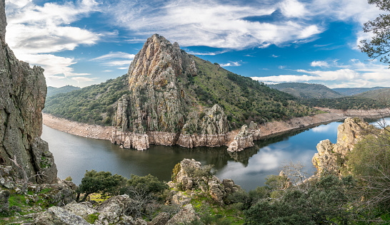 Extremadura and the Tajo river crossing the rugged terrain. Inside this land we found the amazing Monfragüe National Park and the