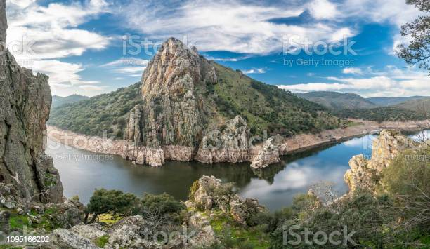 Photo of Extremadura and the Tajo river crossing the rugged terrain. Inside this land we found the amazing Monfragüe National Park and the