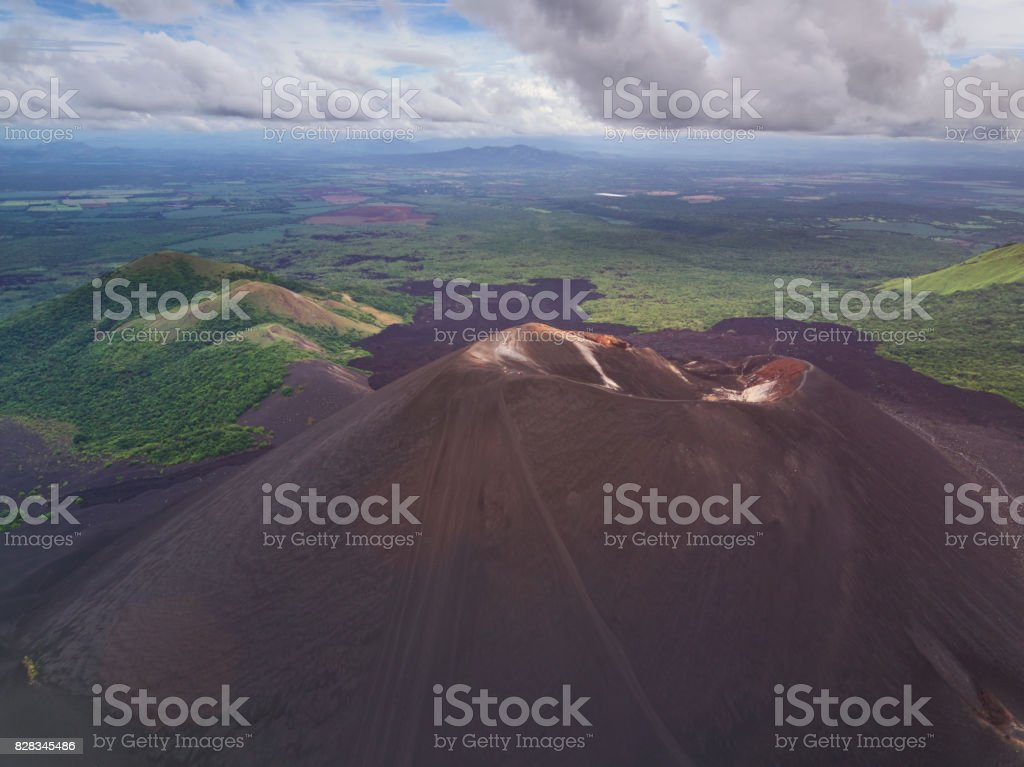 Extreme activity in Nicaragua stock photo