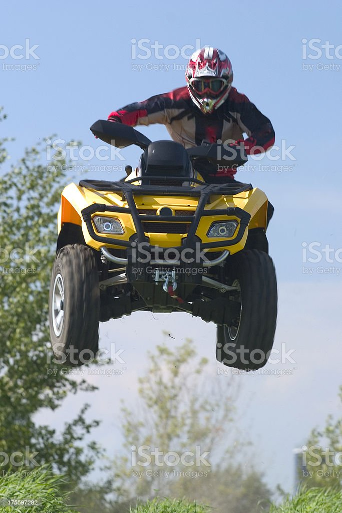 Extreme ATV Air royalty-free stock photo
