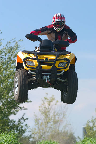 Extreme ATV Air stock photo