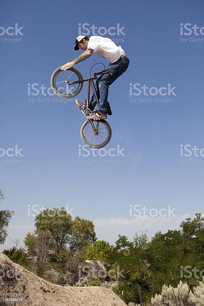 BMX Extreme Bike Rider stock photo
