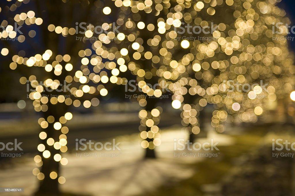 Extreme Blur Christmas Lights stock photo